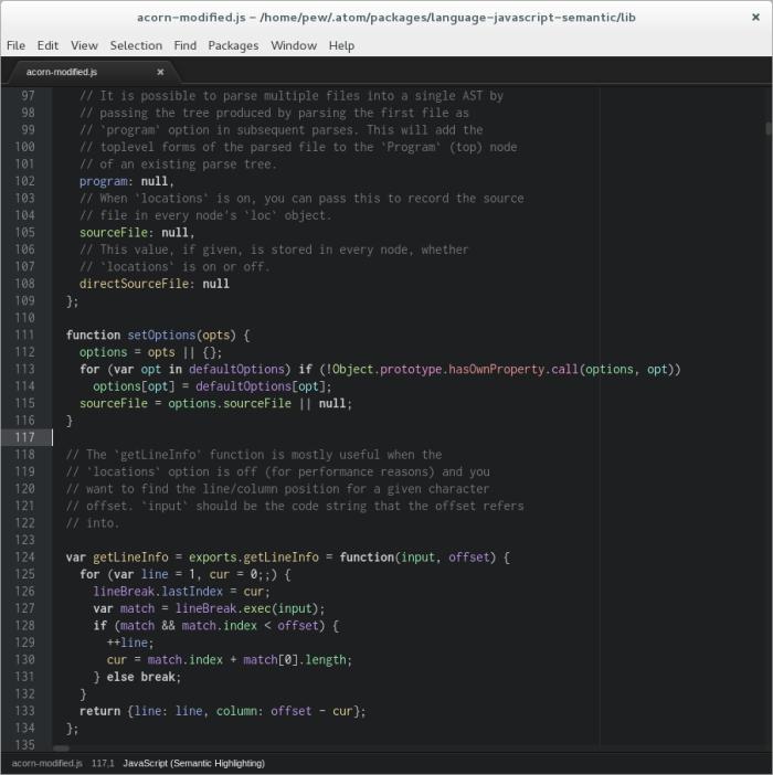 Screenshot with dark theme